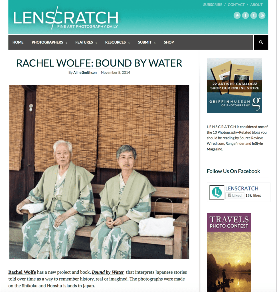 Lenscratch feature Bound by Water