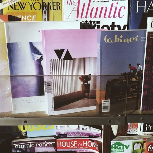 VIA cover on the newsstand
